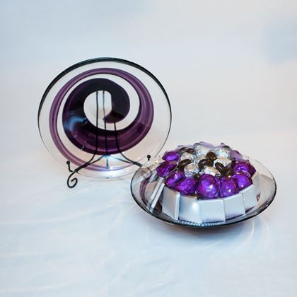 Picture of Purple Glass Chocolate Plate